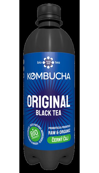 LONG LIFE BIO Kombucha Černý Čaj 0.5l