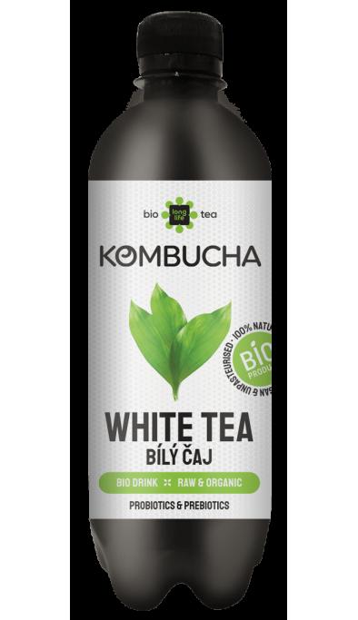 LONG LIFE BIO Kombucha Bílý Čaj 0.5l